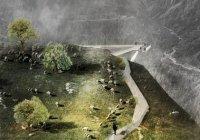 Мост над водопадом Вёрингфоссен