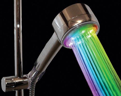 Светодиодная насадка на душ в цветах радуги
